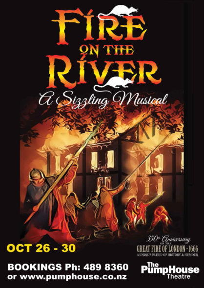 Fire on the River A3 poster