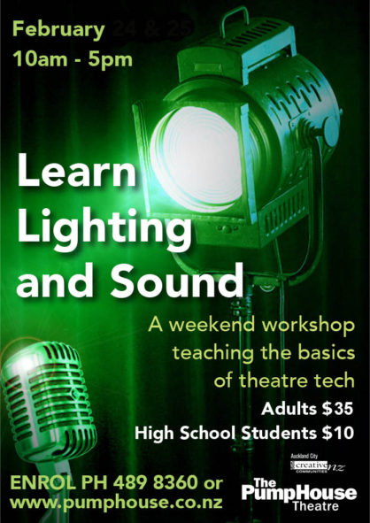 Lighting and sound workshop poster