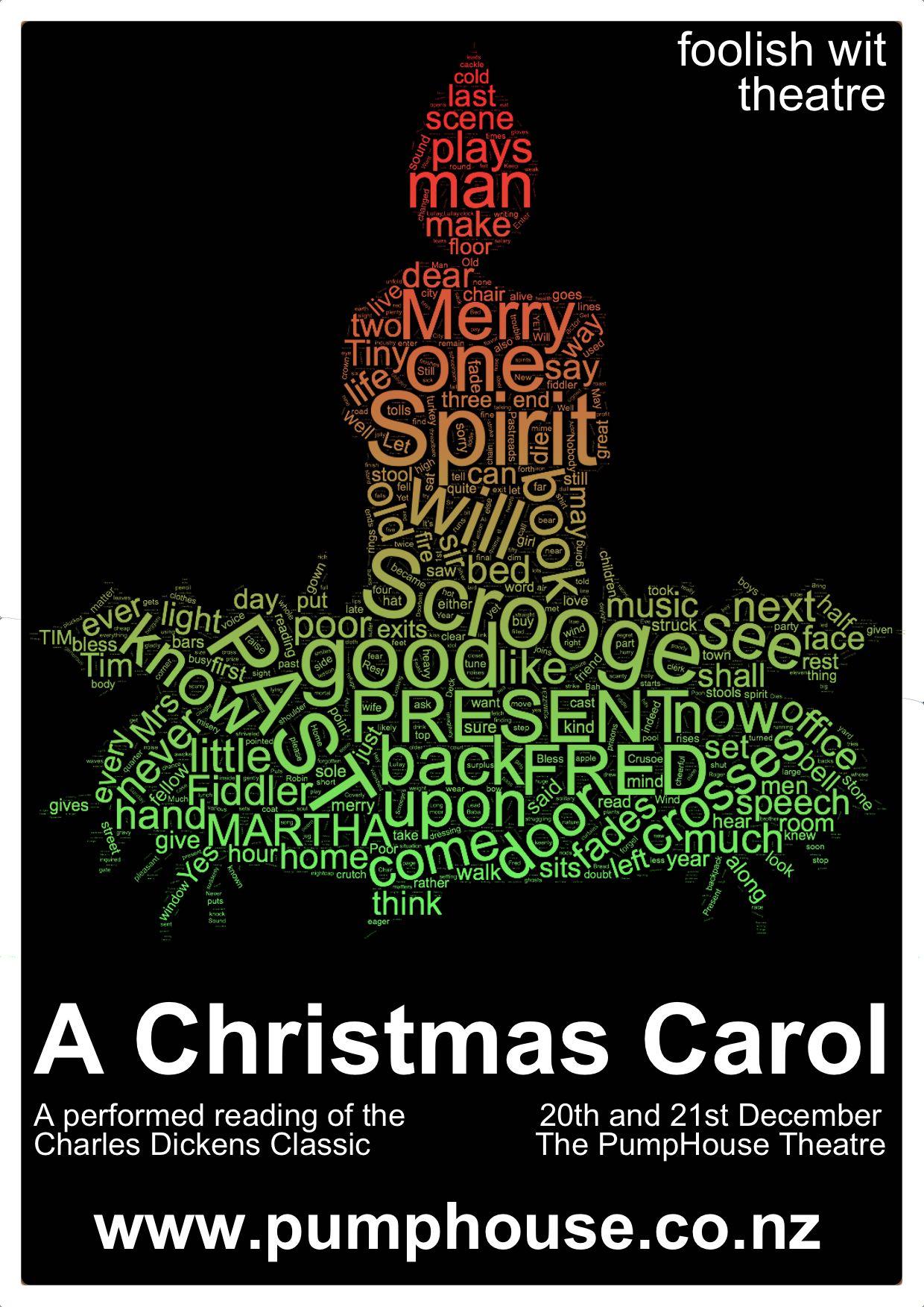 A Christmas Carol Poster.A Christmas Carol Poster The Pumphouse Theatre